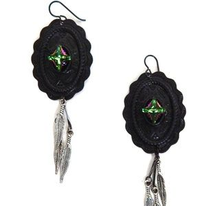PONDEROSA WILD BUNCH CONCHO EARRINGS